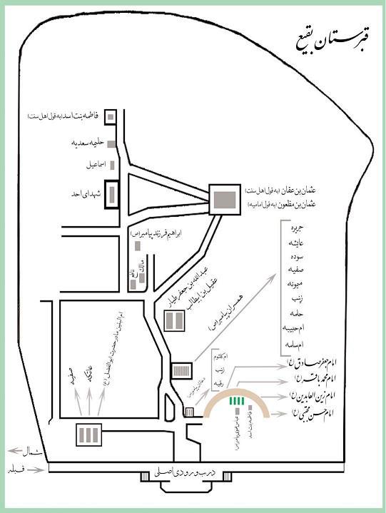 Image result for طرح نقشه بقیع